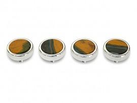Botões c/ Pedra Mineral Lapidada* - Ref. JC-RS7