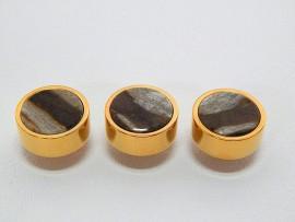 Botões c/ Pedra Mineral Lapidada - JC-BG0010