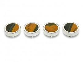 Botões c/ Pedra Mineral Lapidada* - Ref. JC-QS9
