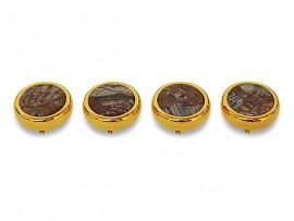 Botões c/ Pedra Mineral Lapidada* - Ref. JC-RG10