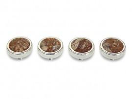Botões c/ Pedra Mineral Lapidada* - Ref. JC-RS4