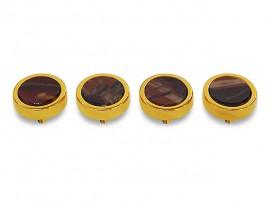 Botões c/ Pedra Mineral Lapidada* - Ref. JC-QG1