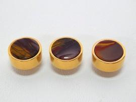 Botões c/ Pedra Mineral Lapidada - JC-BG0015