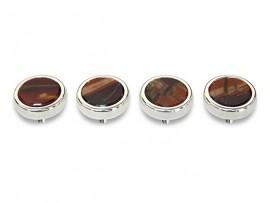 Botões c/ Pedra Mineral Lapidada* - Ref. JC-RS10