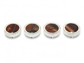 Botões c/ Pedra Mineral Lapidada* - Ref. JC-QS8