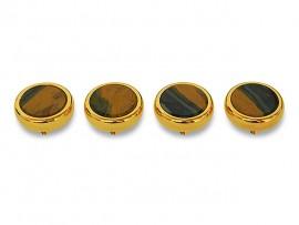 Botões c/ Pedra Mineral Lapidada* - Ref. JC-RG4