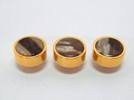 Botões c/ Pedra Mineral Lapidada - JC-BG0020