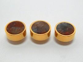Botões c/ Pedra Mineral Lapidada - JC-BG0022