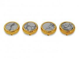 Botões c/ Pedra Mineral Lapidada* - Ref. JC-RG5