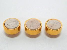 Botões c/ Pedra Mineral Lapidada - JC-BG0023